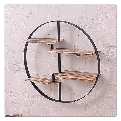 timeless design bbc2b 85790 Industrial Retro Wall Shelf Hung Bracket Storage Shelving Bookshelf - Circle