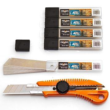 Cuttermesser dazu 50 Stück Abbrechklingen 18 mm Teppichmesser Set
