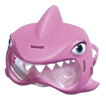 Aqua Creatures MK900SKG - Máscara de natación de tiburón, Color Rosa