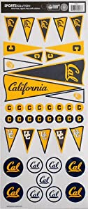 Sports Solution Cal Golden Bears Pennant Stickers