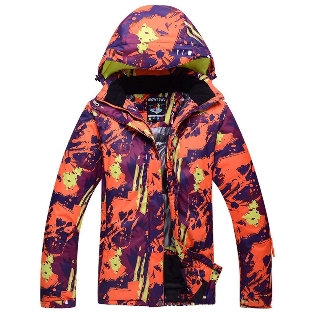 Orange L MALLTY Veste Femme Mountain Ski veste Imperméable Coupe-Vent Imperméable
