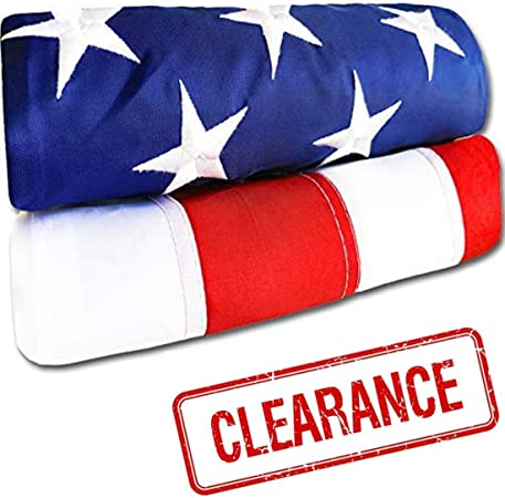 United States US Outdoor Embroidered Heavy Duty USA NEW American Flag 3 x 5 Ft