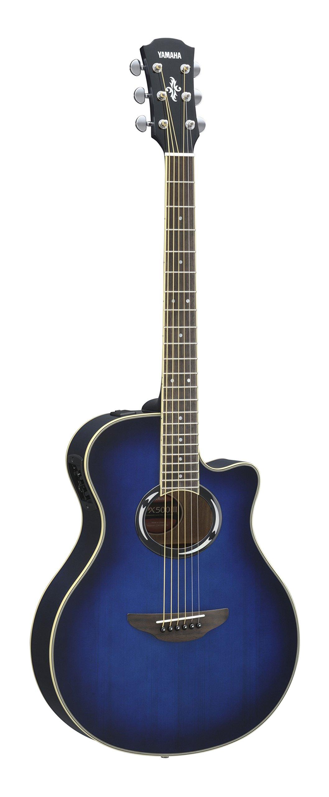 Yamaha APX500III Thinline Cutaway Acoustic-Electric Guitar, Oriental Blue Burst