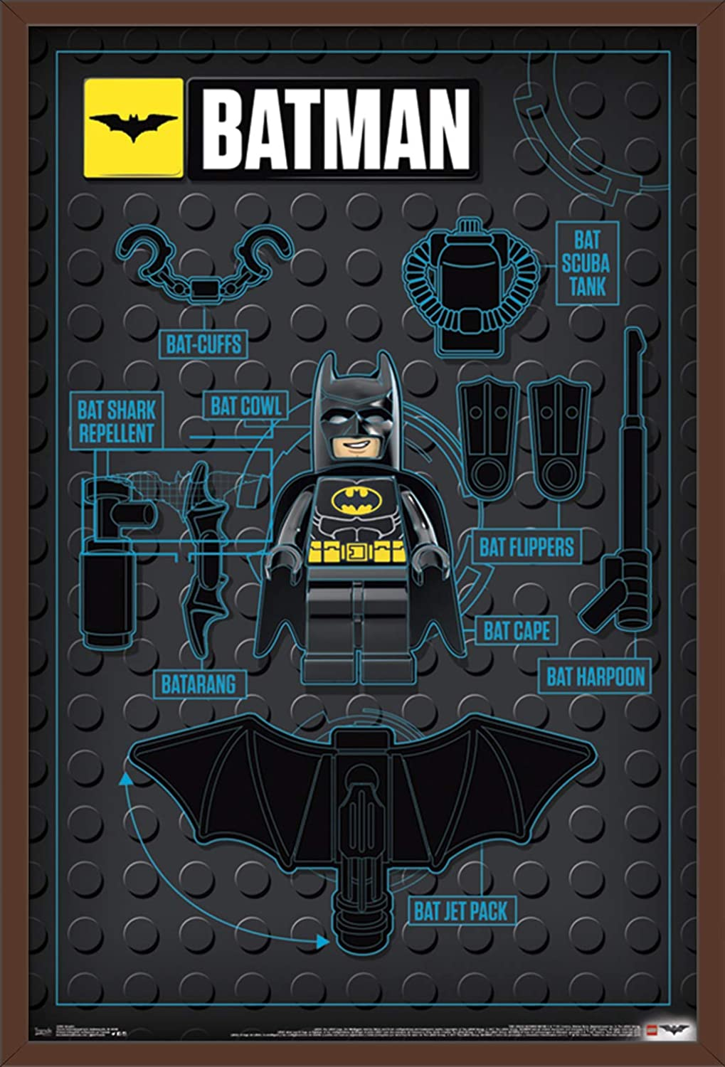 Trends International Lego Batman - Graphic Premium Wall Poster, 22.375