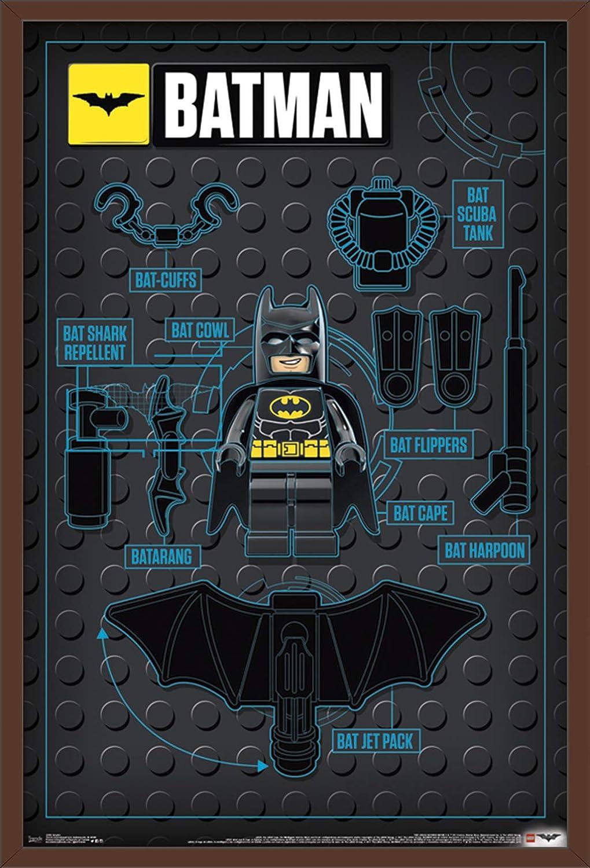 Trends International Lego Batman - Graphic Premium Wall Poster, 22.375
