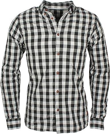 Solid - Camisa Casual - para Hombre Negro M: Amazon.es: Ropa y accesorios