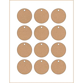 image relating to Printable Hang Tags known as 60 Printable Cardstock Circle Hold Tags with Holes