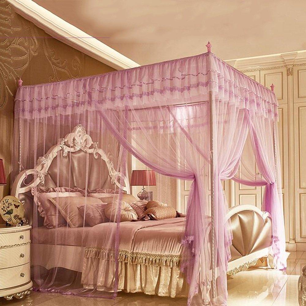 Moskitonetze MEIDUO Prinzessin-Wind-Edelstahl-Stent 1.5M (5 ft) Bett, 1.8M (6 ft) Bett, 2.0M (6.6ft) Bett, 1.8  2.2M Bett