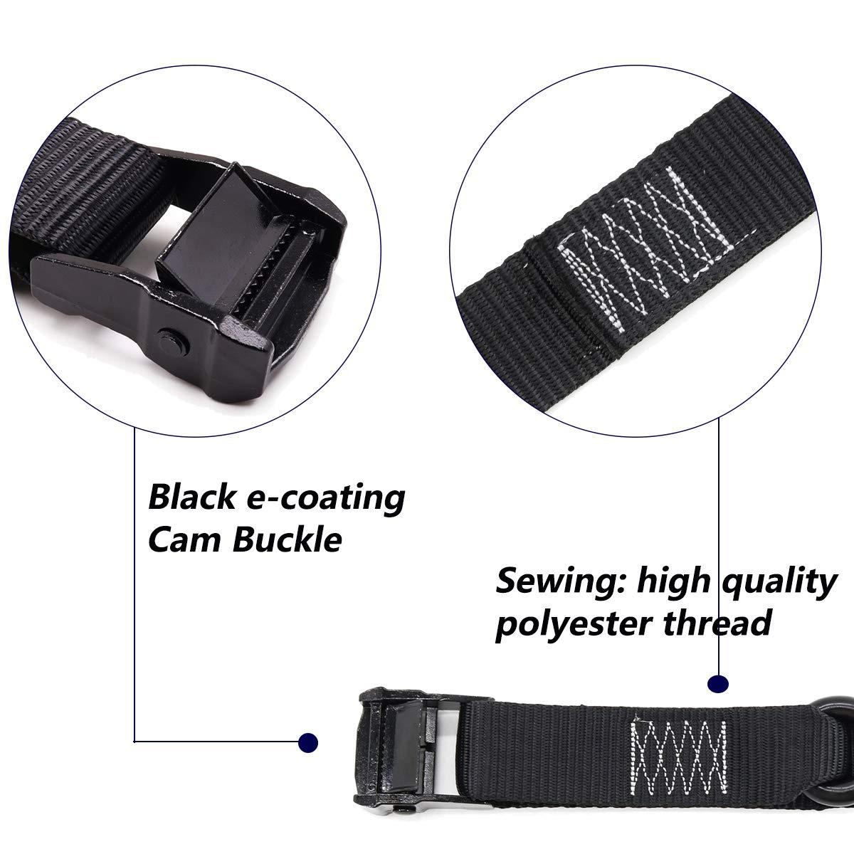 S Hooks with Keeper 1, 6.5ft ZHANGJIAGANG CITY XIANGLE TOOL CO 2pk Black E-Coating Cam Buckle Tie Down 1.5 inch-6.5ft Xiangle Lashing Straps LTD T/&HI-B07DW92WY9