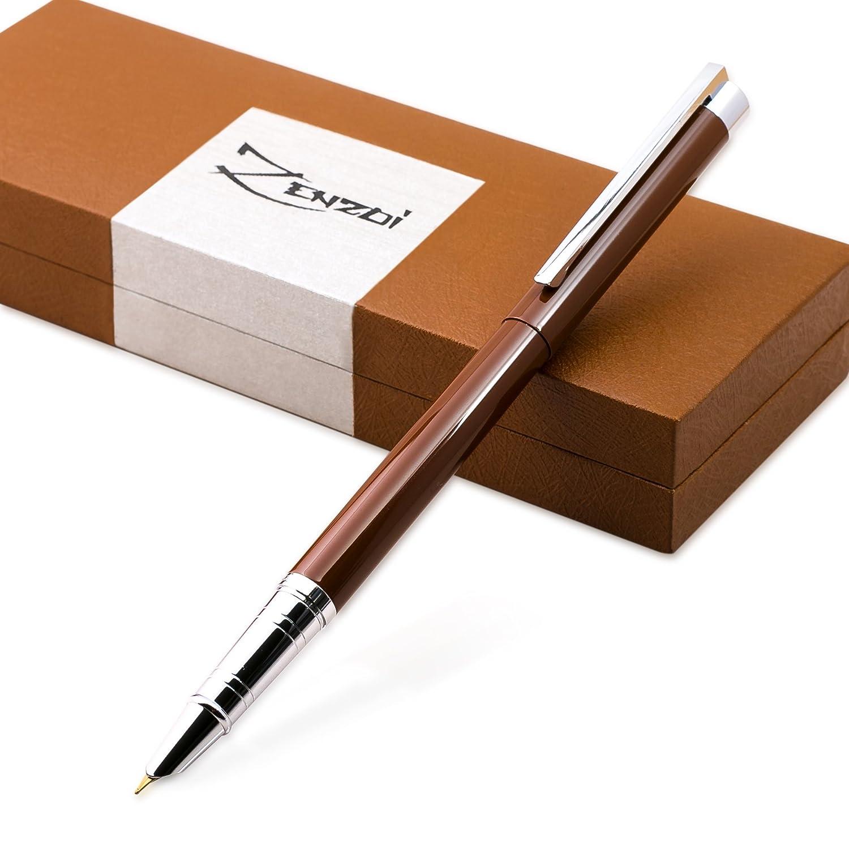 Penna Stilografica con Converter per la Ricarica di Inchiostro e Astuccio Regalo – Miglior Set di Penne Calligrafiche Manageriali per Firma Scritta per Cartucce Standard - Garanzia al 100% ZenZoi