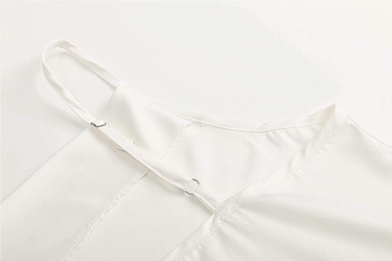 Camicia da donna con scollo a U in seta e chiffon Jinsha