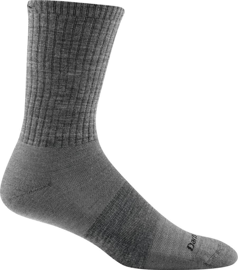 Darn Tough Men's Standard Issue Crew Light Cushion Sock (Style 1657) Merino Wool, Medium Gray (Medium 8-9.5) - 6 Pack