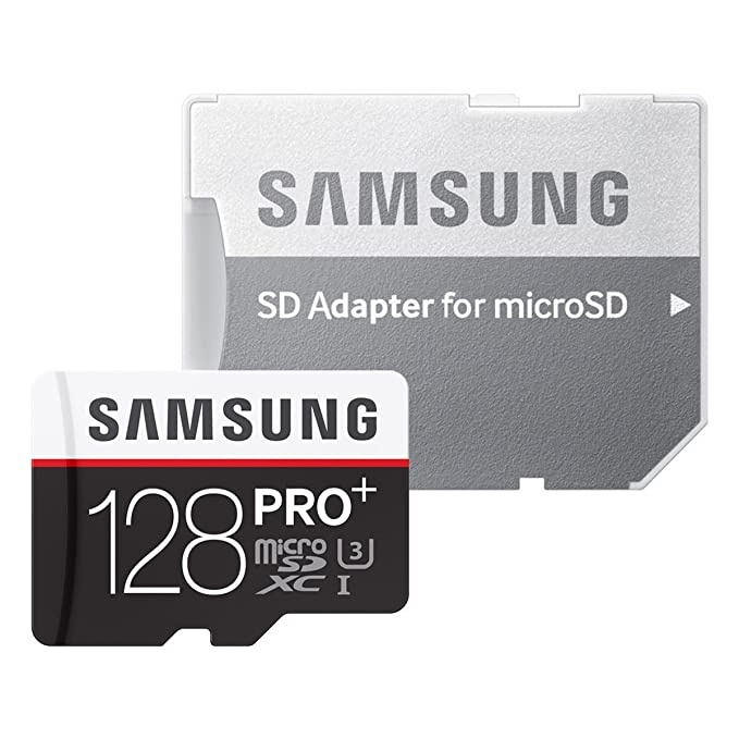 Samsung MicroSD - Tarjeta de Memoria de 128 GB (Class 10, UHS-I), Negro/Rojo/Blanco