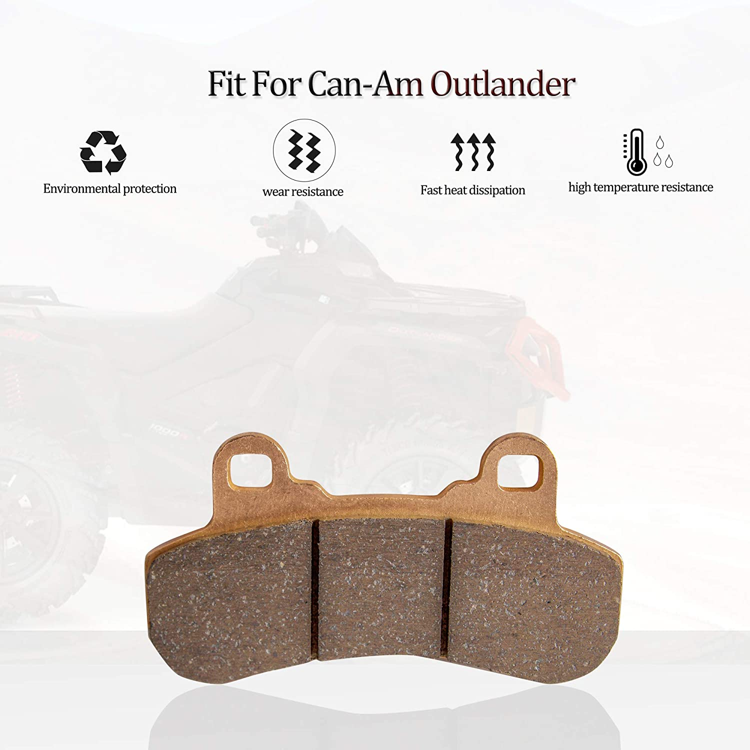 X3 4x4 XRS 2017 2018 2019 4 Sets Front and Rear Sintered Metal Severe Duty Brake Pads For Can-Am Maverick X3 4x4 For Can-Am Maverick X3