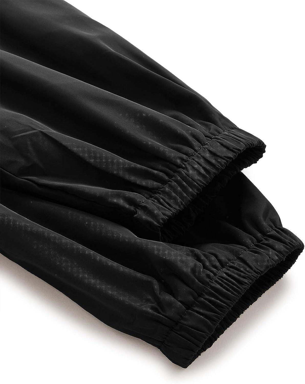 Milumia Womens Color Block Drawstring Hooded Zip Up Lightweight Rain Jacket Hooded Windbreaker