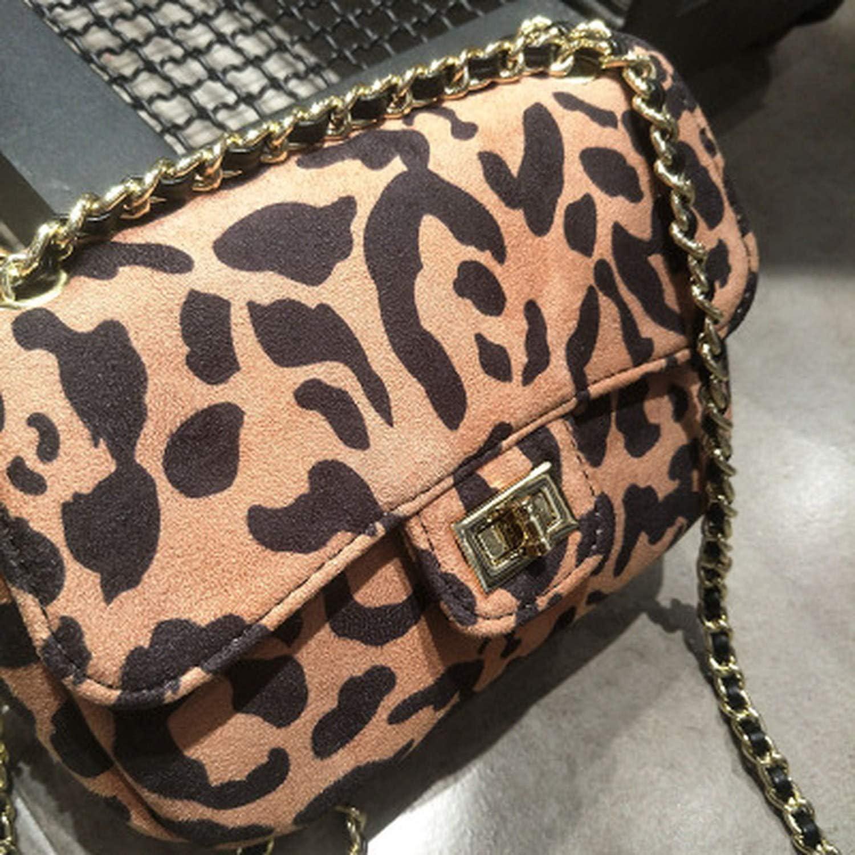 Women Messenger Bags Leopard Grain Handbag Long Chain Crossbody Bag Female Mini Shoulder Bag
