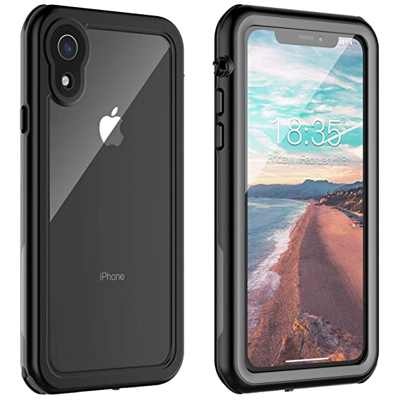 wholesale dealer 36236 48099 iPhone XR Waterproof Case, Vapesoon iPhone XR Case Waterproof Shockproof  Snowproof Clear Slim Case for iPhone XR (6.1 inch) (Black+Gray/Transparent)