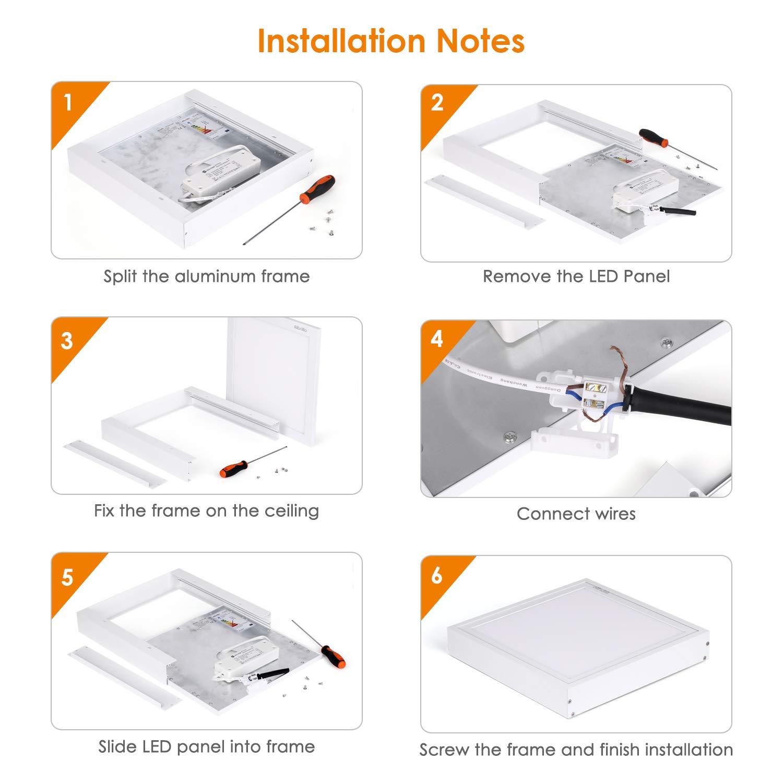 /Ø300mm Albrillo 20W RGB LED Deckenleuchte Panel Warmwei/ß Dimmbar Deckenlampe IP20 inkl 7 Lichtfarben Aluminiumrahmen und 2.4GHZ Fernbedienung Schlafzimmer Wohnzimmer K/üche geeignet