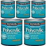 Minwax 64444444 Polycrylic Protective Finish Water Based, Quart, Semi-Gloss 5 Pack