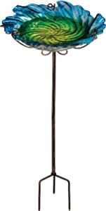 Regal Art &Gift Birdbath/Feeder with Stake, Blue