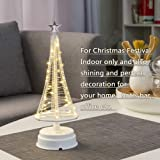 Mini Christmas Tree, Decorative Lights for Home/Decoration/Party/Wedding, 10Inch 40LED USB or Battery Powered, Warm…