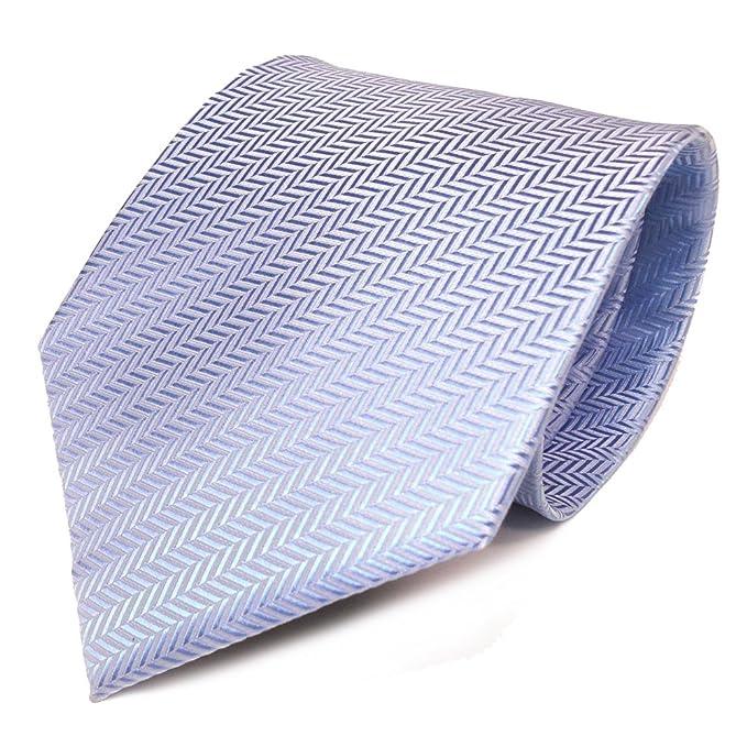 TigerTie - Corbata - azul claro azul plata rayas: Amazon.es: Ropa ...