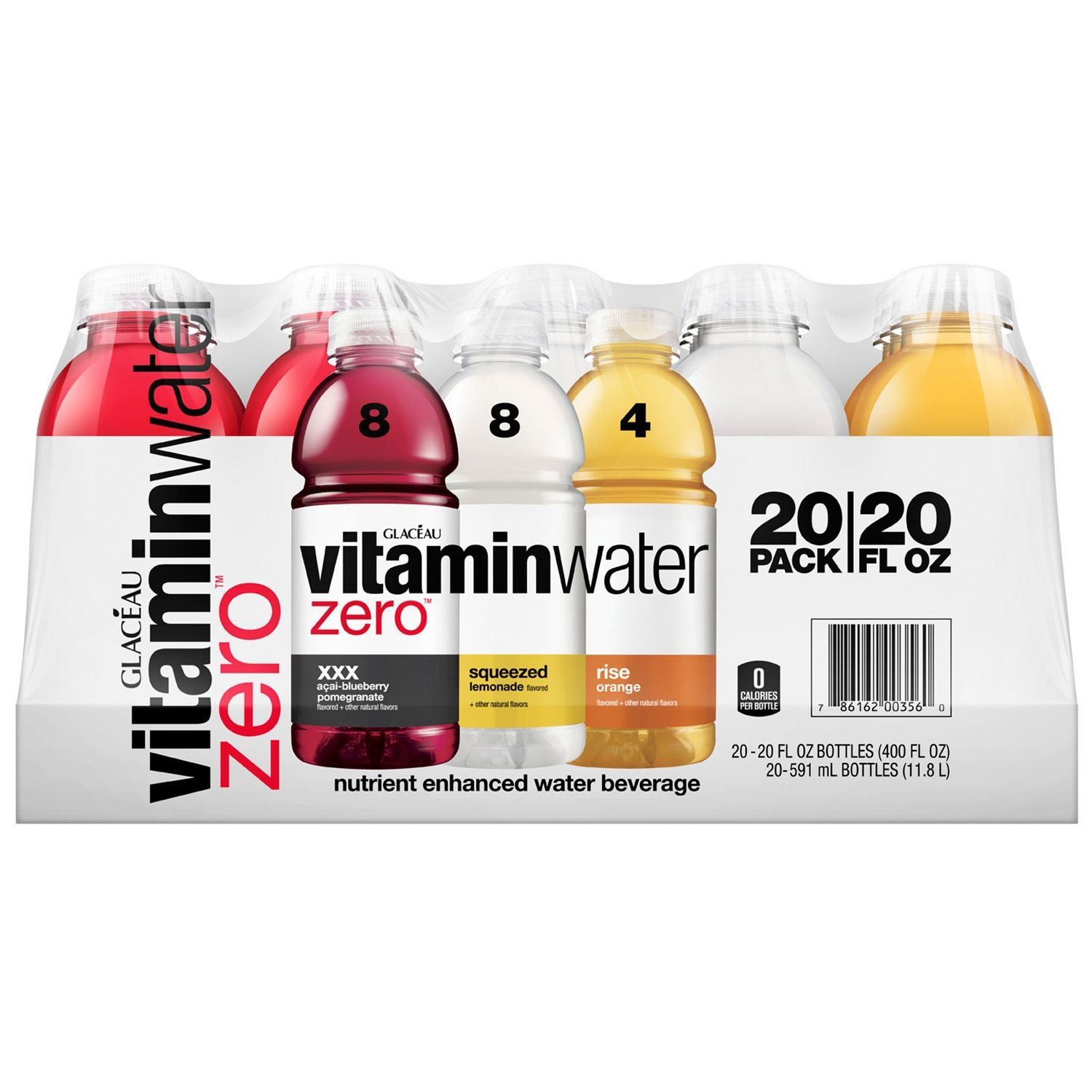 Glaceau Vitamin Water Zero Variety Pack, 20 Count (400 Fluid Ounce) by Glaceau