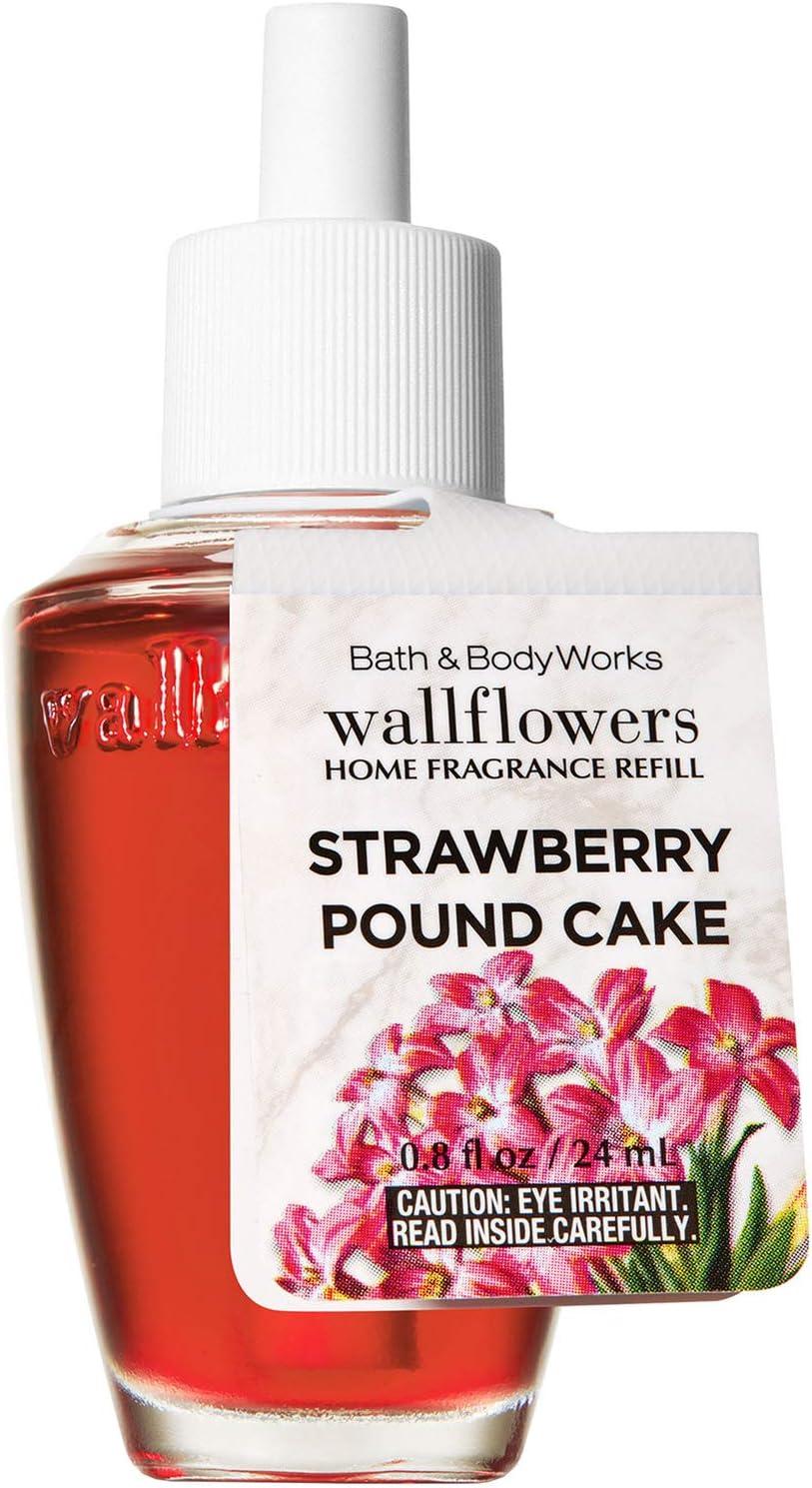 Bath and Body Works White Barn Strawberry Pound Cake WallFlower Refill Bulb