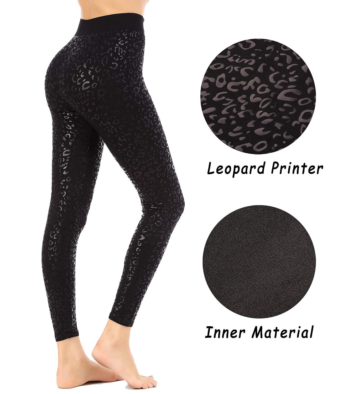 FISOUL Ultra Soft High Waist Printed Leggings Yoga Workout Pants Stretchy Capris Free Size