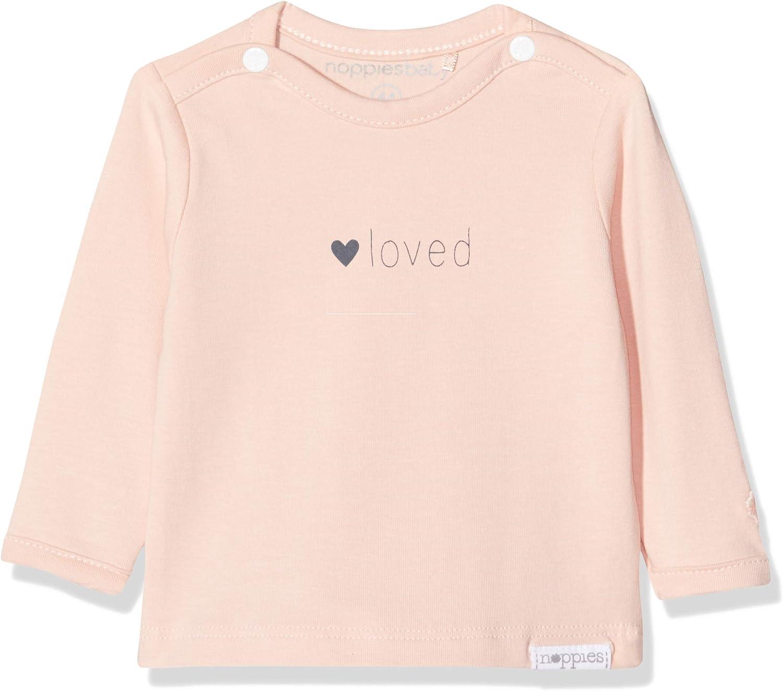 Noppies Baby-M/ädchen G Tee Ls Yvon Tekst T-Shirt