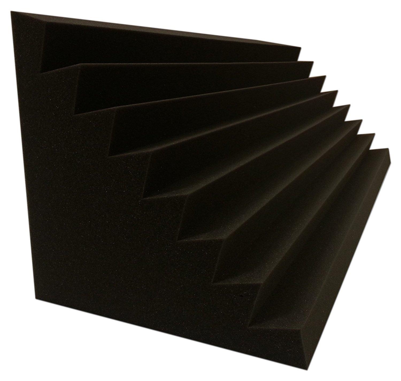 Bass Trap Absorber Lamellen (Pyramiden) Profil (4 St. Performance Ca. 100x30x30cm)