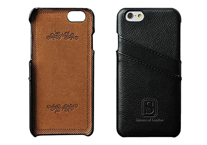 sports shoes 4784b 69a43 iPhone 6 Plus Luxury Leather Case with Slots for ID/Bank Cards, Ultra Slim  Cases by Simons of London in Pouch and Gift Box