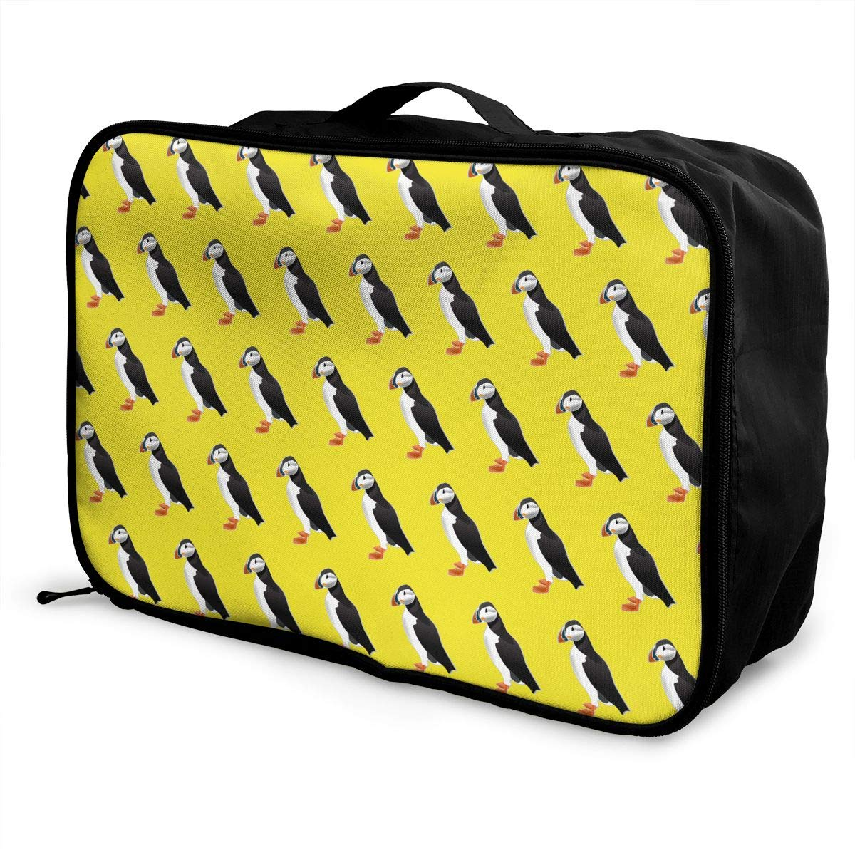 YueLJB Puffin Birds Pattern Lightweight Large Capacity Portable Luggage Bag Travel Duffel Bag Storage Carry Luggage Duffle Tote Bag