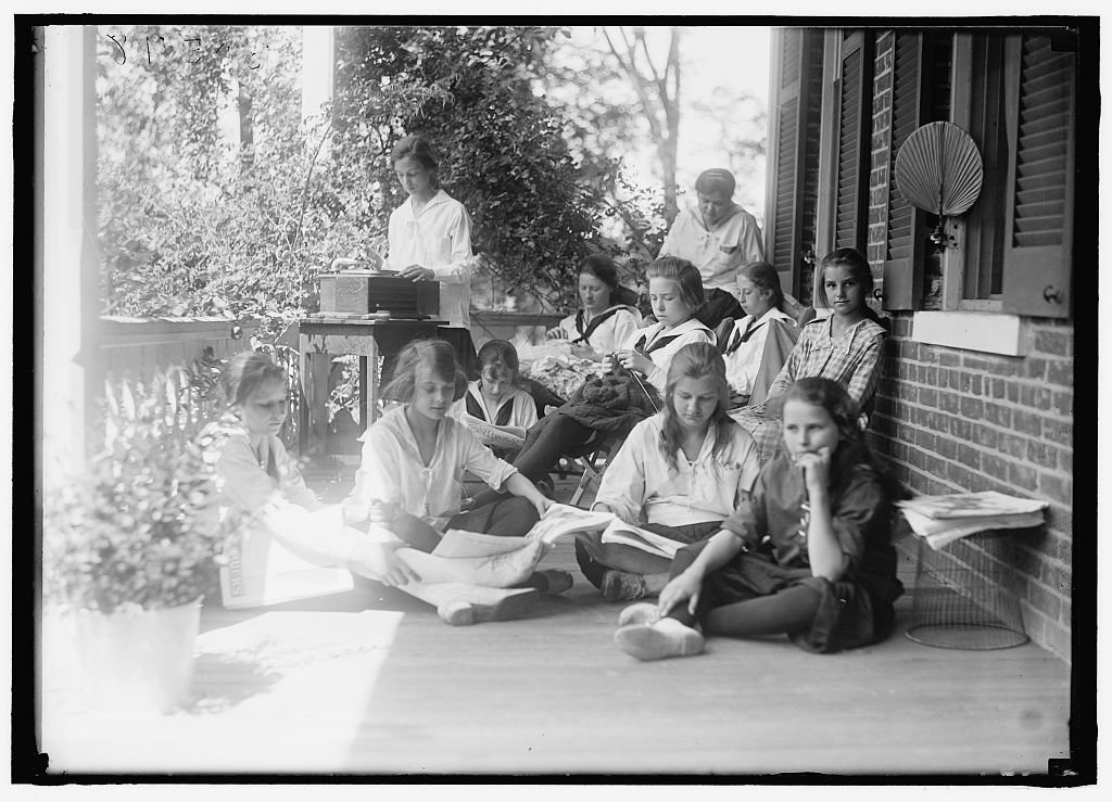 Vintography Reproduced 8 x 10 Photo Young Women's Christian Association. Scenes at Y.W.C.A. Camp 1919 Harris & Ewing a96