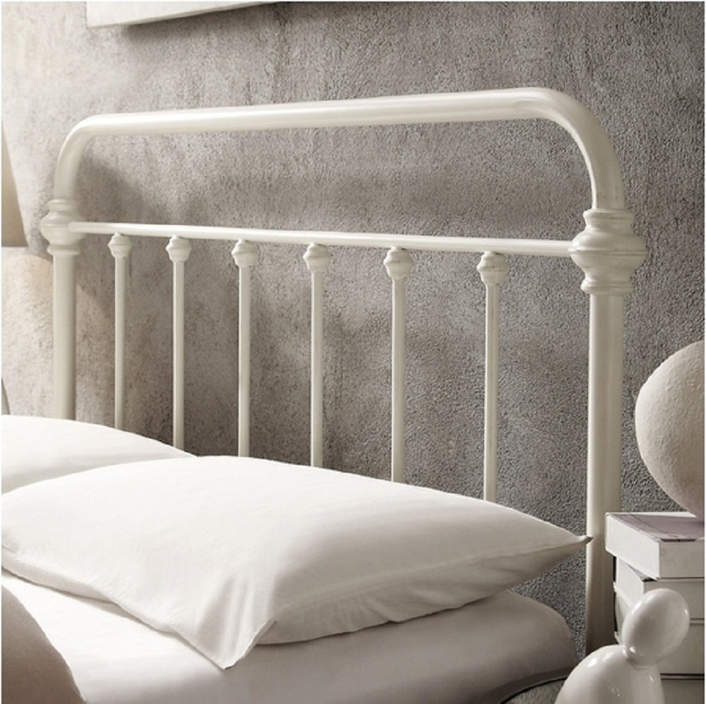 Antique iron bed queen - Amazon Com Inspire Q Giselle Antique White Graceful Lines Victorian Iron Metal Bed Queen Kitchen Dining