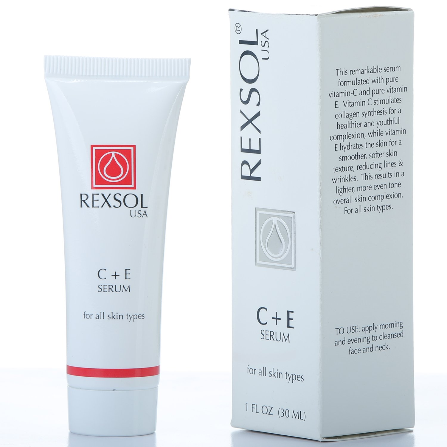 Amazon.com: REXSOL C + E Serum | Contains Vitamin C & Vitamin E | Helps minimize the appearance of first signs of aging | Enhances skins youthful ...