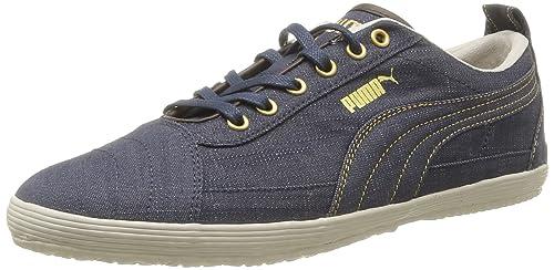 Outlet Puma Homme Noir Denim Baskets Basses Chaussures Serve Pro