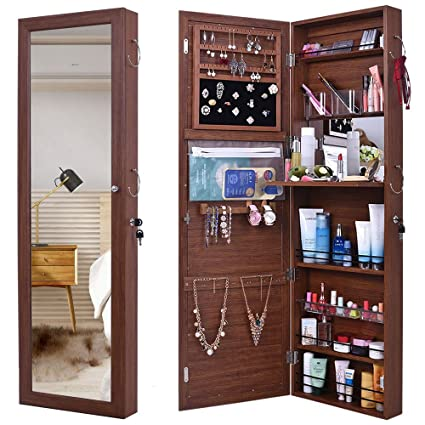 Amazon Gissar Jewelry Mirror Armoire Wall Mount Over The Door