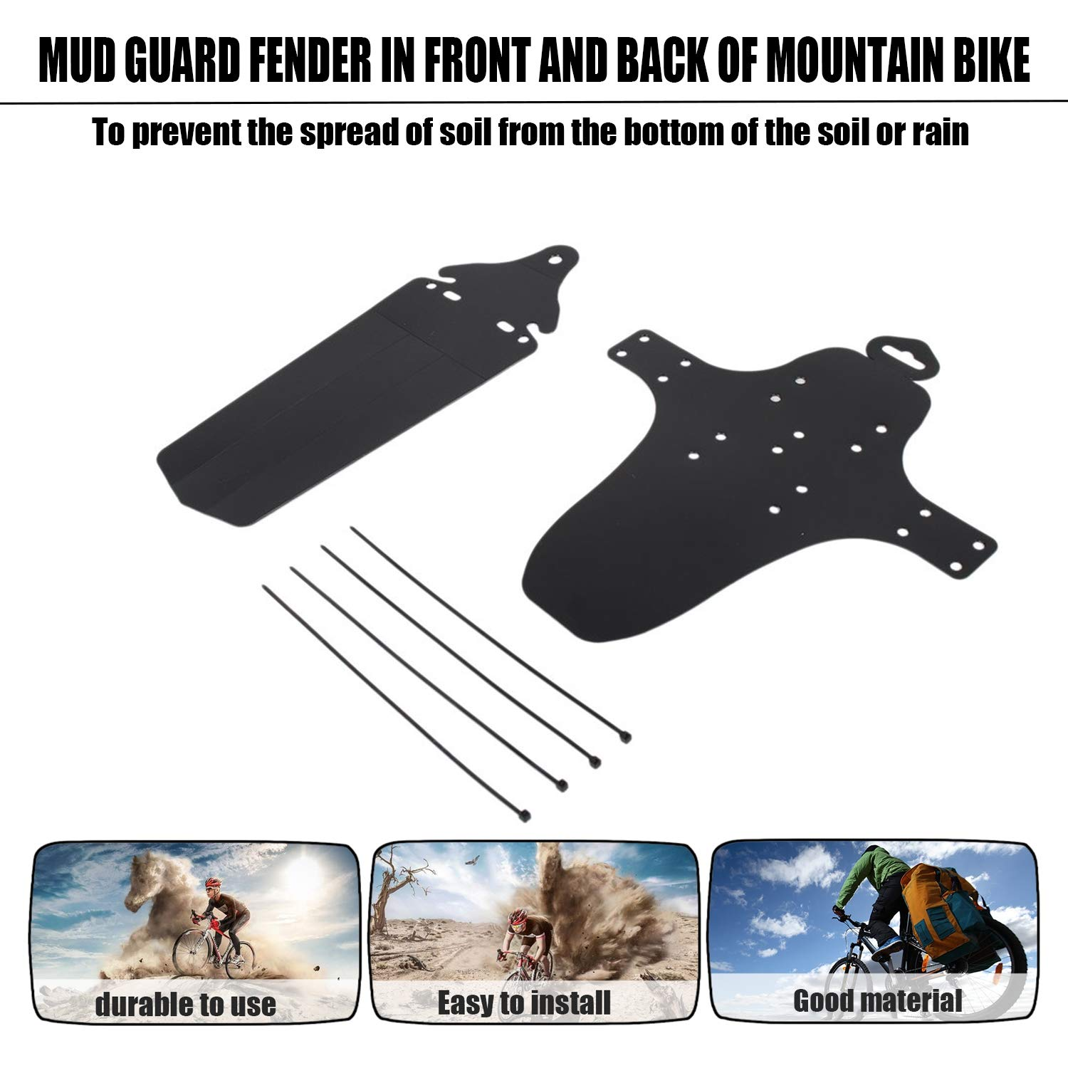 Ultra Lightweight Bicycle Mudguard Easy to Install MTB Fender Mud Guards Wings for Bicycle Front Rear Fenders Bike Parts