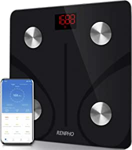 RENPHO Bluetooth Body Fat Scale - Smart Bmi Scale Digital Bathroom Weight Scale, Body Composition Analyzer with Smartphone App, 396 Lbs