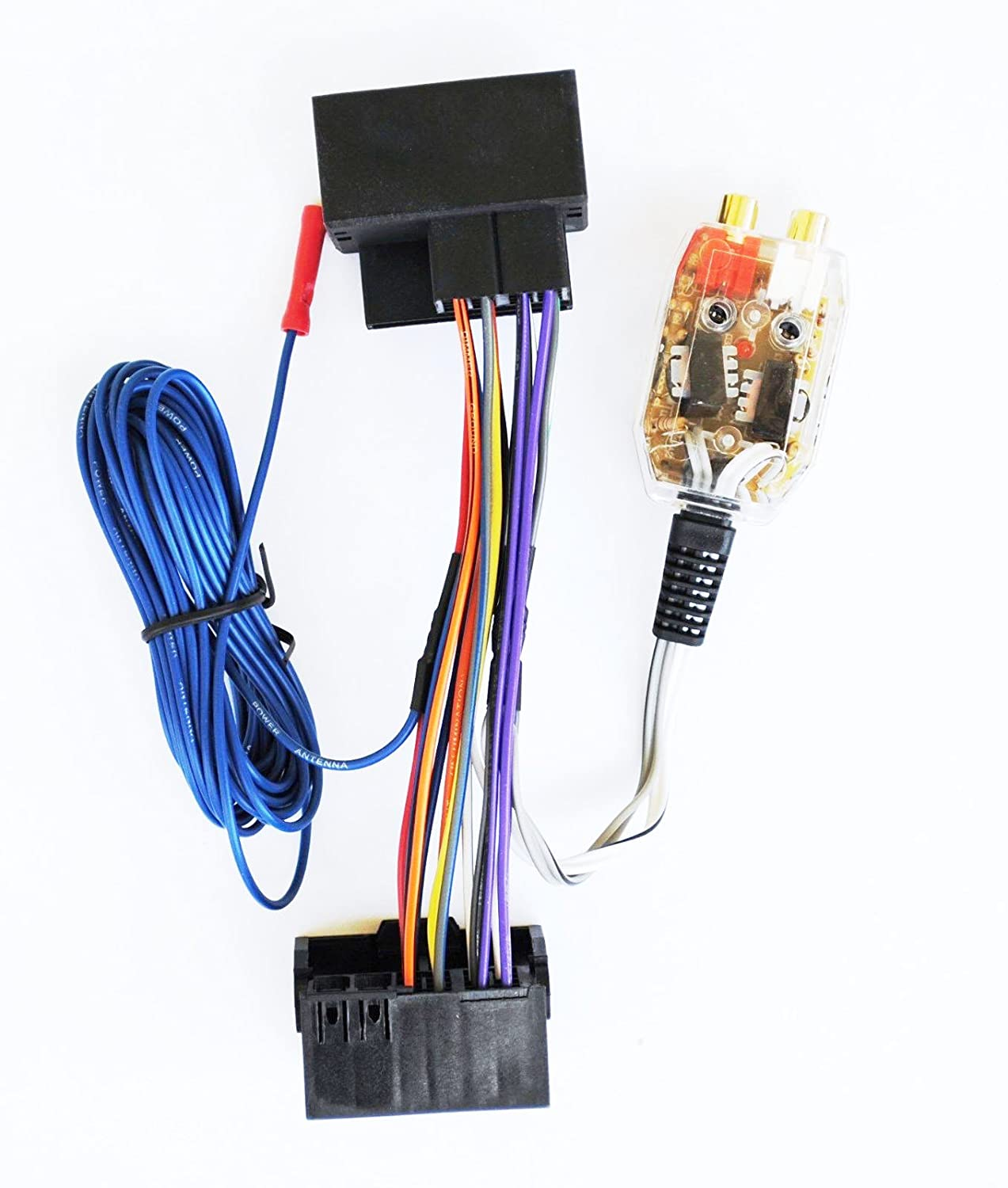 Amazon.com: Factory Radio Add A Amp Amplifier Sub Interface Wire Harness  Inline Converter: Car Electronics