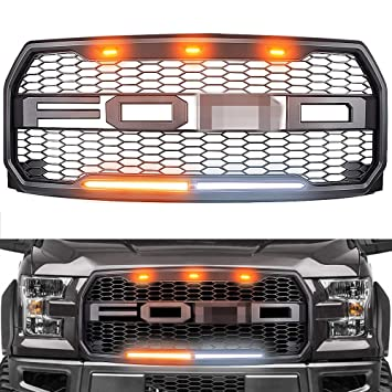 Raptor Style Grille for 2015-2017 Ford F150, Replacement Raptor Grill on