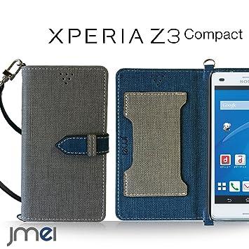 92765ba82d XPERIA Z3 Compact SO-02G ケース JMEIオリジナルカルネケース VESTA グレー docomo ドコモ Sony