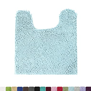 MAYSHINE Contour Bath Rugs | Non Slip | Soft | Absorbent Water | Dry Fast| Machine-Washable (20 x24  Spa Blue)