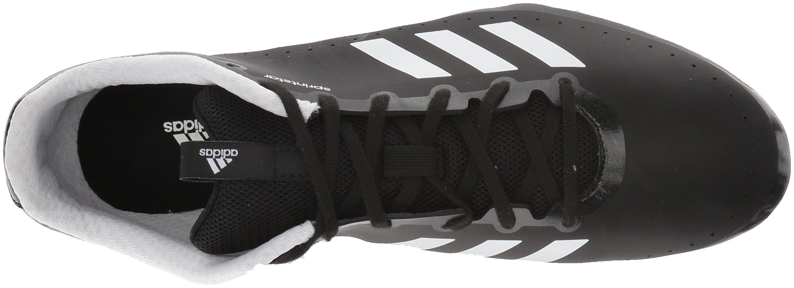 adidas Women's Sprintstar w, Core Black/Orange/White, 5.5 M US by adidas (Image #7)