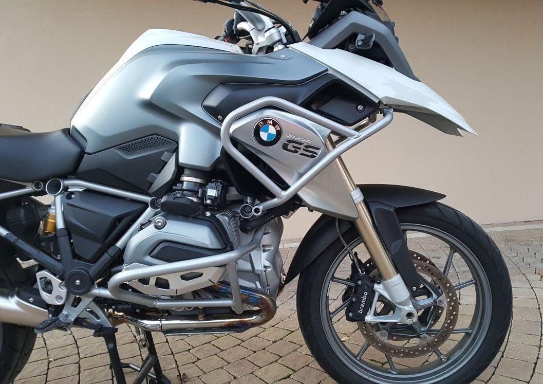 Protezione serbatoio tubolare in acciaio Argento compatibile con BMW R 1200 GS LC 2013-2016
