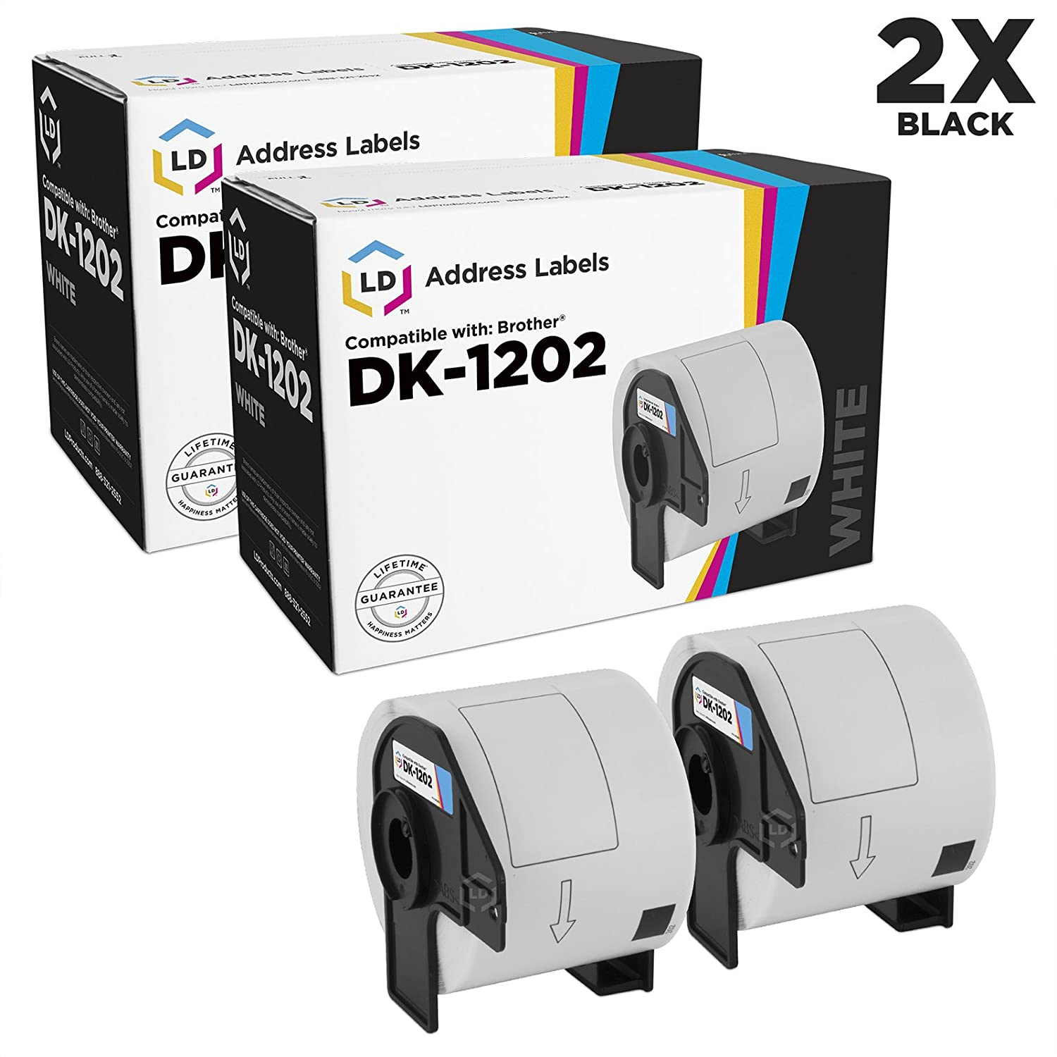 LD © Compatible Brother DK-1202 Shipping Labels / 2.4 in x 3.9 in LD Products DK1202