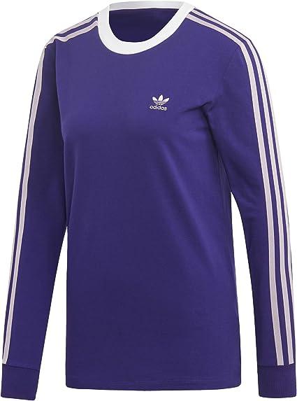 T Shirt Manches Longues Femme Adidas 3 Stripes: