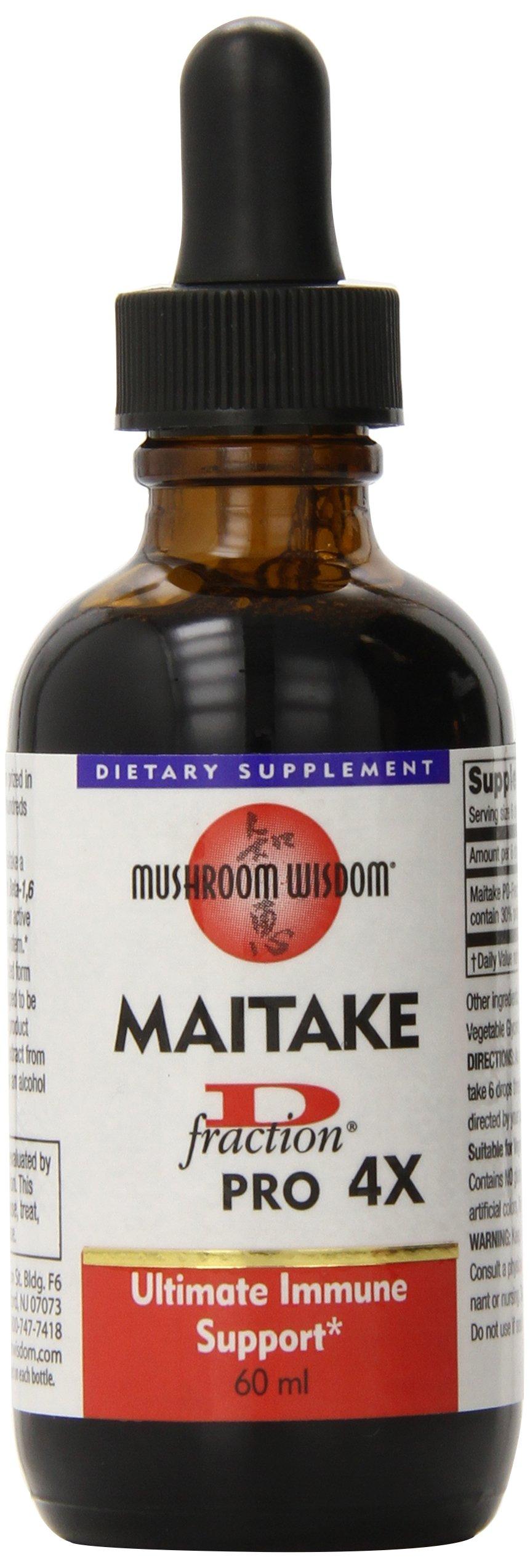 Mushroom Wisdom, Inc. Maitake D Fraction Pro 4X 60 ml.