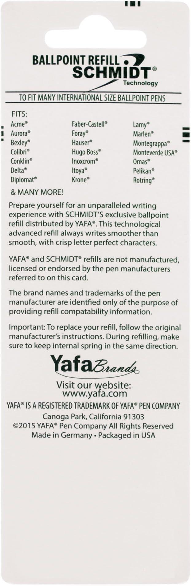 Schmidt P900 Parker Style Ballpoint Pen Refill Fine Point 0.6mm Black 2  ...